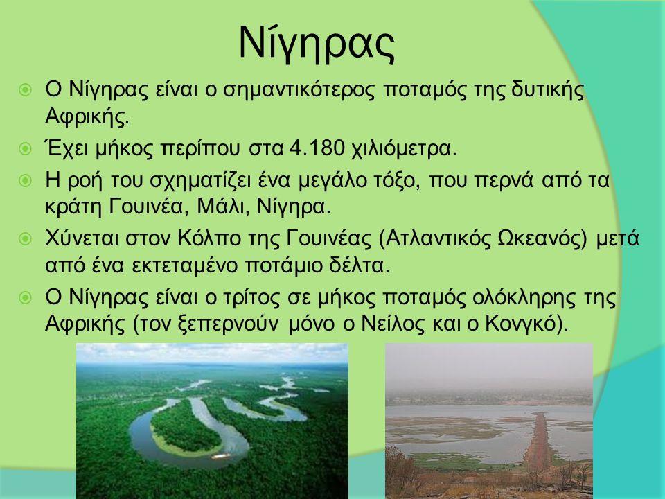 Νίγηρας  Ο Νίγηρας είναι ο σημαντικότερος ποταμός της δυτικής Αφρικής.