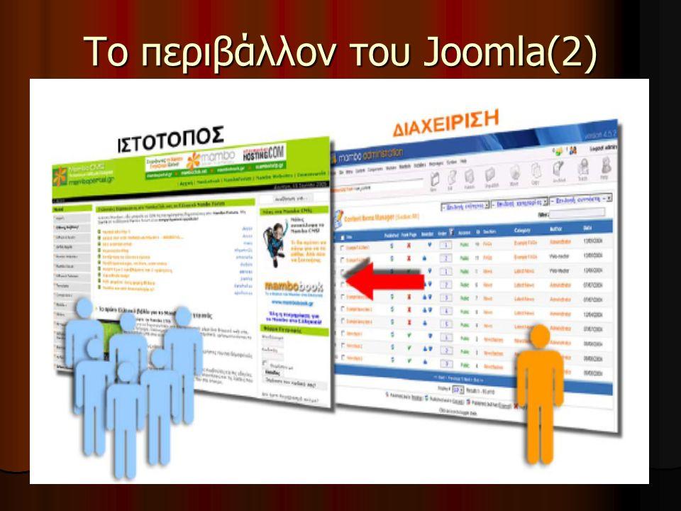 Το περιβάλλον του Joomla(2)