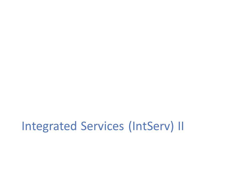 5 Εισαγωγή στην Ποιότητα Υπηρεσίας RSVP daemon (1) RSVP «δαίμονας» (daemon): το πρόγραμμα που τρέχει στον κόμβο και υλοποιεί το RSVP πρωτόκολλο Αν αποτύχει ο έλεγχος πολιτικής ή ο έλεγχος αποδοχής επιστρέφει ένα μήνυμα λάθους στην εφαρμογή που έκανε την αίτηση