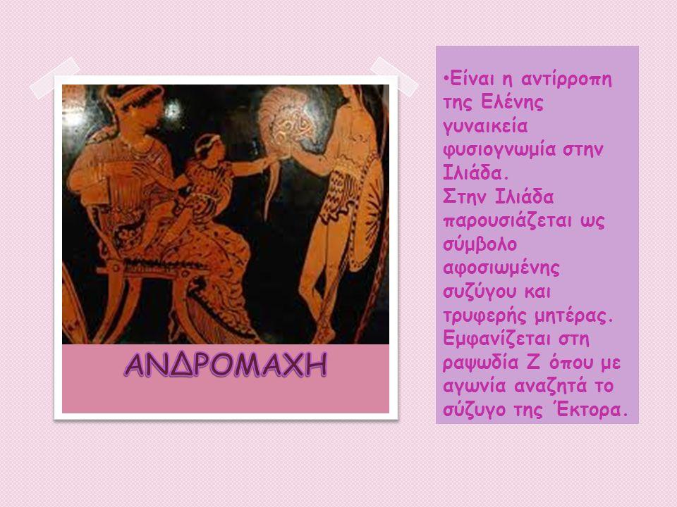 Είναι η αντίρροπη της Ελένης γυναικεία φυσιογνωμία στην Ιλιάδα.