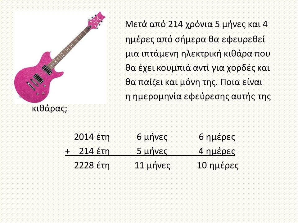 Μετά από 214 χρόνια 5 μήνες και 4 ημέρες από σήμερα θα εφευρεθεί μια ιπτάμενη ηλεκτρική κιθάρα που θα έχει κουμπιά αντί για χορδές και θα παίζει και μ
