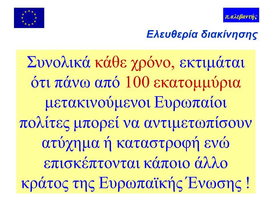 Σύνολο = 85,7 εκατ.Πηγή Eurobarometer 1997 Ελευθερία διακίνησης + 10 εκατ.