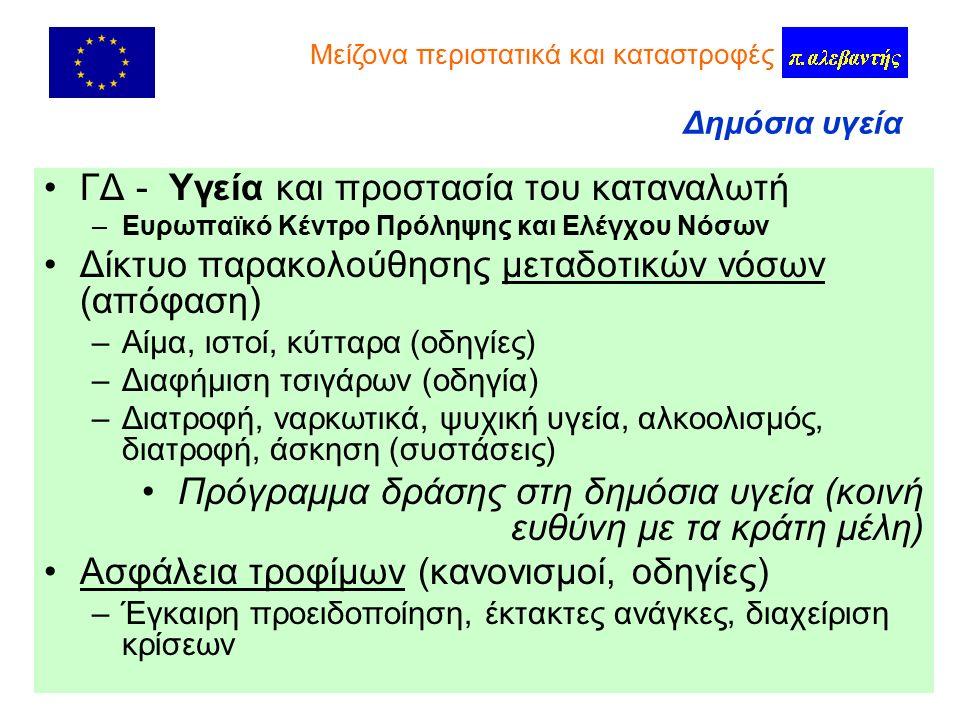 112 ΓΔ – Κοινωνία της πληροφορίας Οδηγία καθολικής υπηρεσίας στις τηλεπικοινωνίες ( ἀ ρθρο 26 - Ενιαίος ευρωπαϊκός αριθμός κλήσης έκτακτης ανάγκης) –Δυνατότητα ατελούς κλήσης παράλληλα με τους εθνικούς αριθμούς –Οι κλήσεις απαντώνται δεόντως και διεκπεραιώνονται, με τον πλέον ενδεδειγμένο τρόπο –Διάθεση πληροφορίών για τον εντοπισμό του καλούντος –Ενημέρωση των πολιτών για την ύπαρξη και τη χρήση του 112 Ατυχήματα