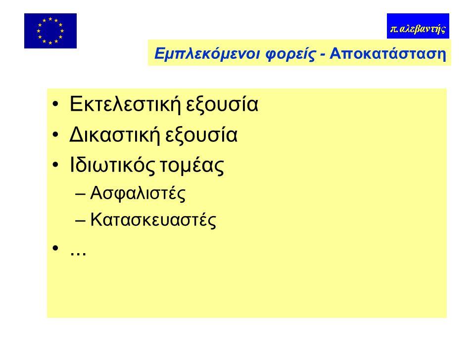 Έρευνα και Διάσωση (Πυροσβεστική, ΕΜΑΚ, Λιμενικό)* Ιατρική περίθαλψη (ΕΚΑΒ*, Νοσοκομεία) Υπηρεσίες τάξεως (Αστυνομία) Βαρέα μέσα (Στρατός, Ερυθρός Σταυρός*, ΜΚΟ*) ΜΜΕ Δικαστική εξουσία Εμπλεκόμενοι φορείς - Επέμβαση Περίπου 10 εκατ.
