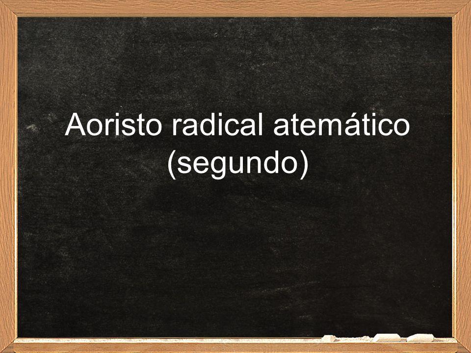 Aoristo radical atemático (segundo)