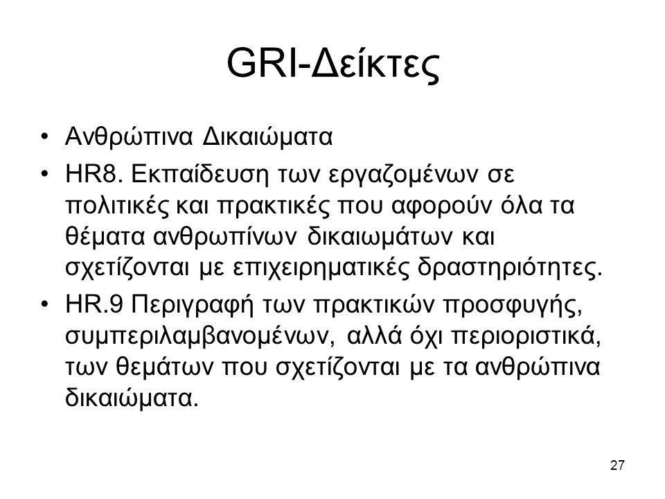 27 GRI-Δείκτες Ανθρώπινα Δικαιώματα HR8.
