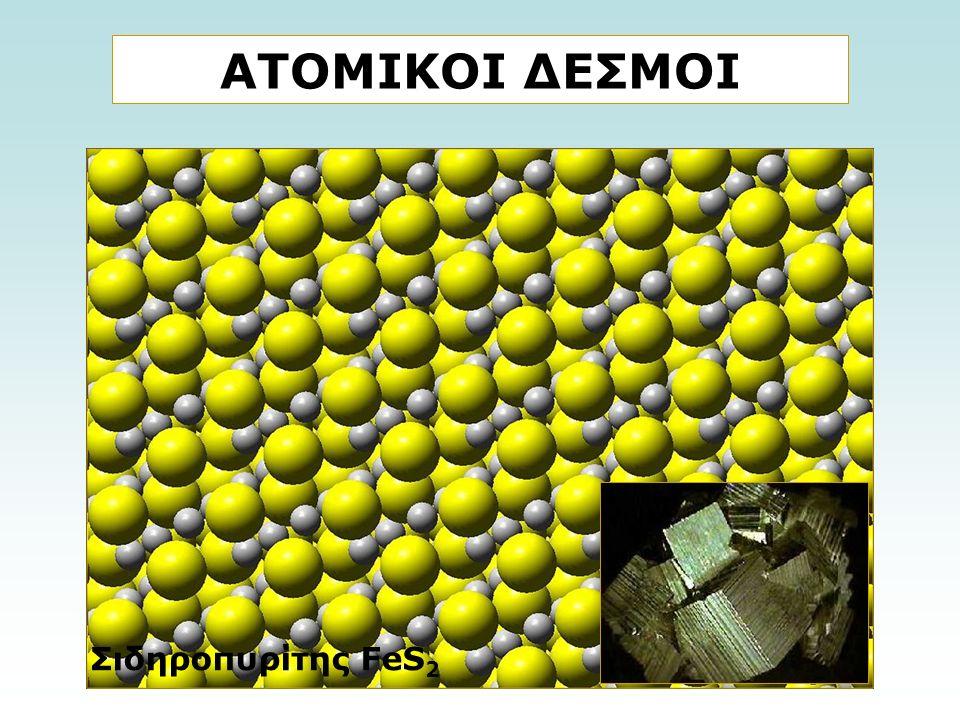 ΑΤΟΜΙΚΟΙ ΔΕΣΜΟΙ Σιδηροπυρίτης FeS 2