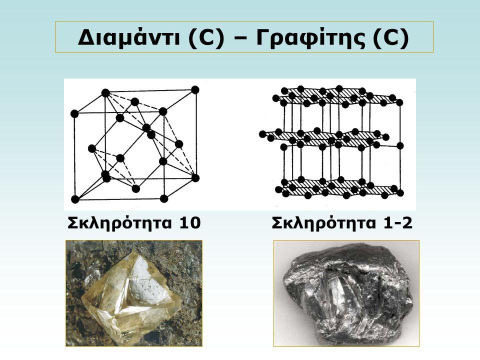 Σκληρότητα 10Σκληρότητα 1-2 Διαμάντι (C) – Γραφίτης (C)