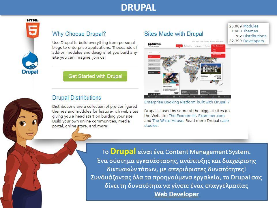 Το Drupal είναι ένα Content Management System.
