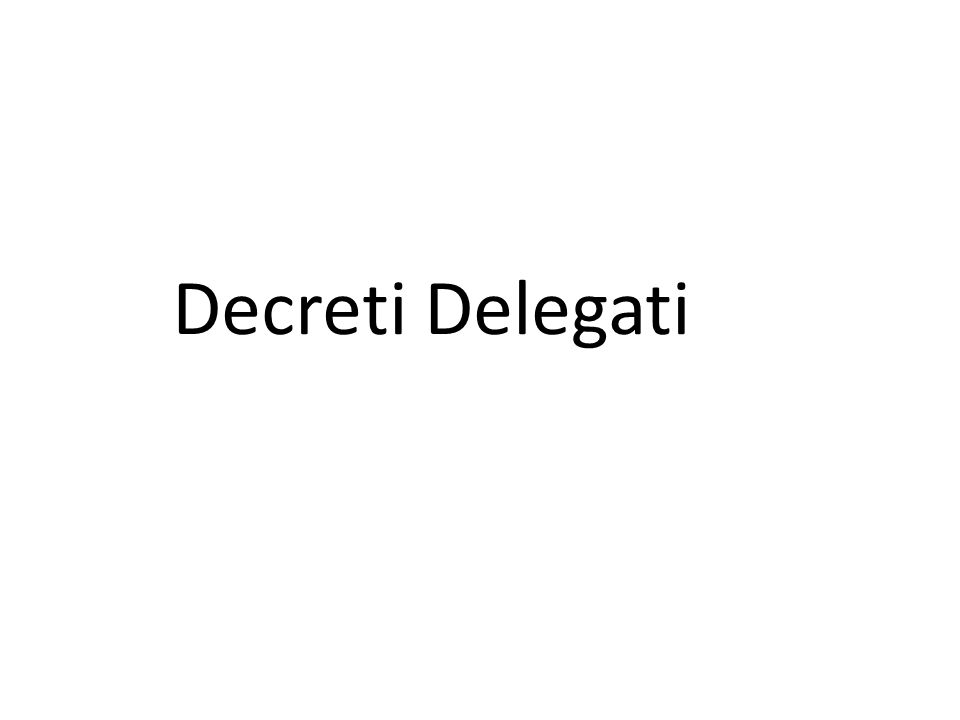 Decreti Delegati