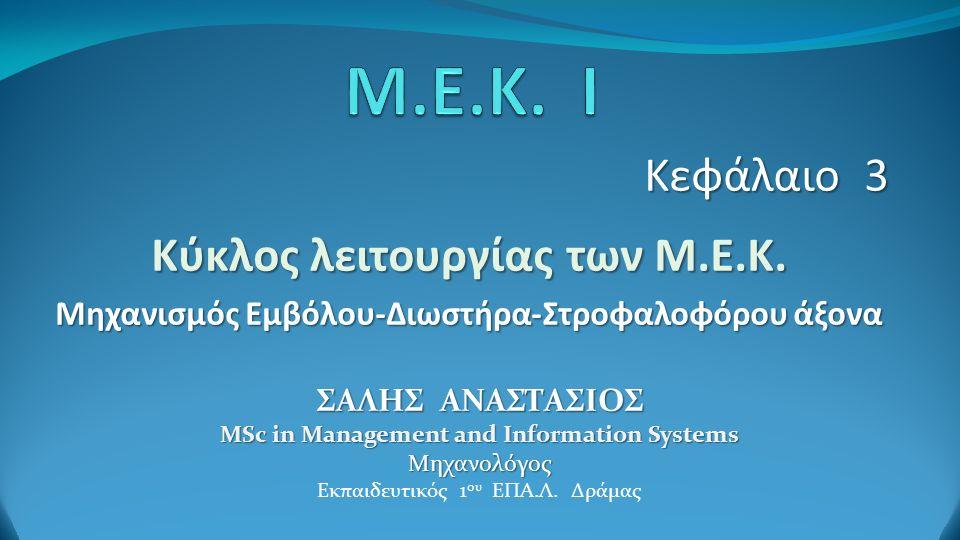 Κεφάλαιο 3 Κύκλος λειτουργίας των Μ.Ε.Κ.