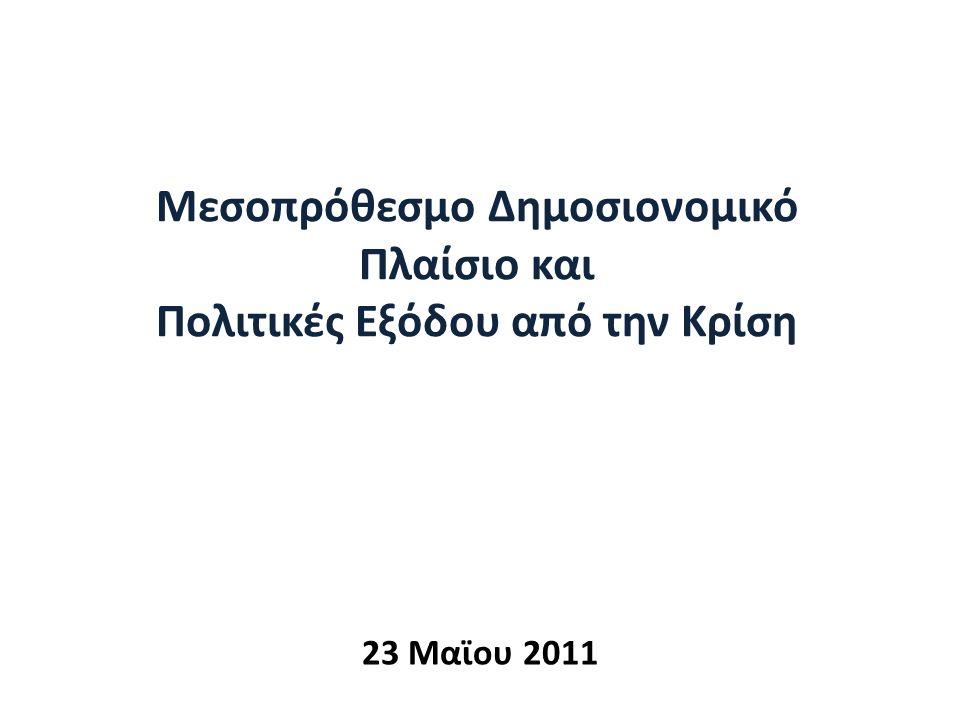 Μεσοπρόθεσμο Δημοσιονομικό Πλαίσιο και Πολιτικές Εξόδου από την Κρίση 23 Μαϊου 2011