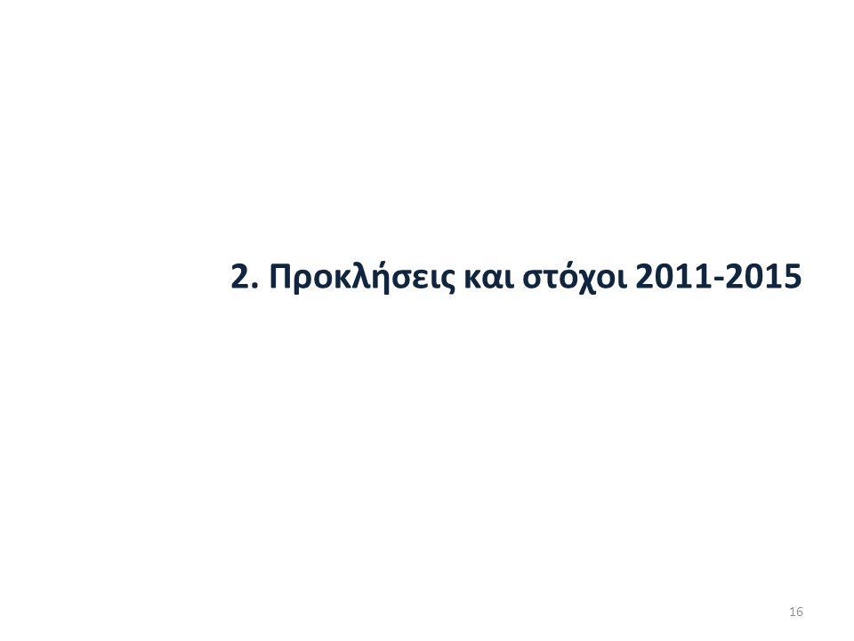 2. Προκλήσεις και στόχοι 2011-2015 16