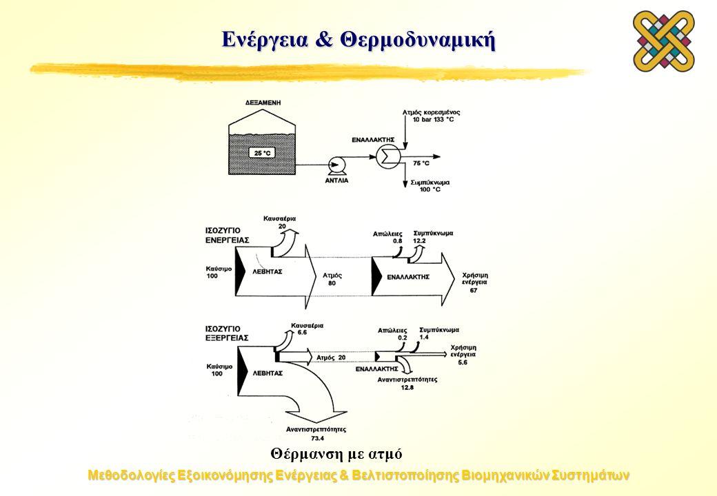 Μεθοδολογίες Εξοικονόμησης Ενέργειας & Βελτιστοποίησης Βιομηχανικών Συστημάτων Θέρμανση με ατμό Ενέργεια & Θερμοδυναμική