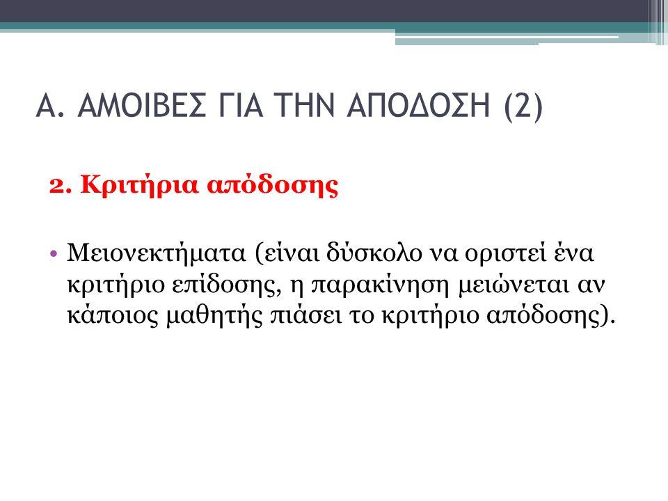 Α. ΑΜΟΙΒΕΣ ΓΙΑ ΤΗΝ ΑΠΟΔΟΣΗ (2) 2.