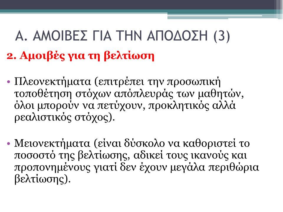 Α. ΑΜΟΙΒΕΣ ΓΙΑ ΤΗΝ ΑΠΟΔΟΣΗ (3) 2.