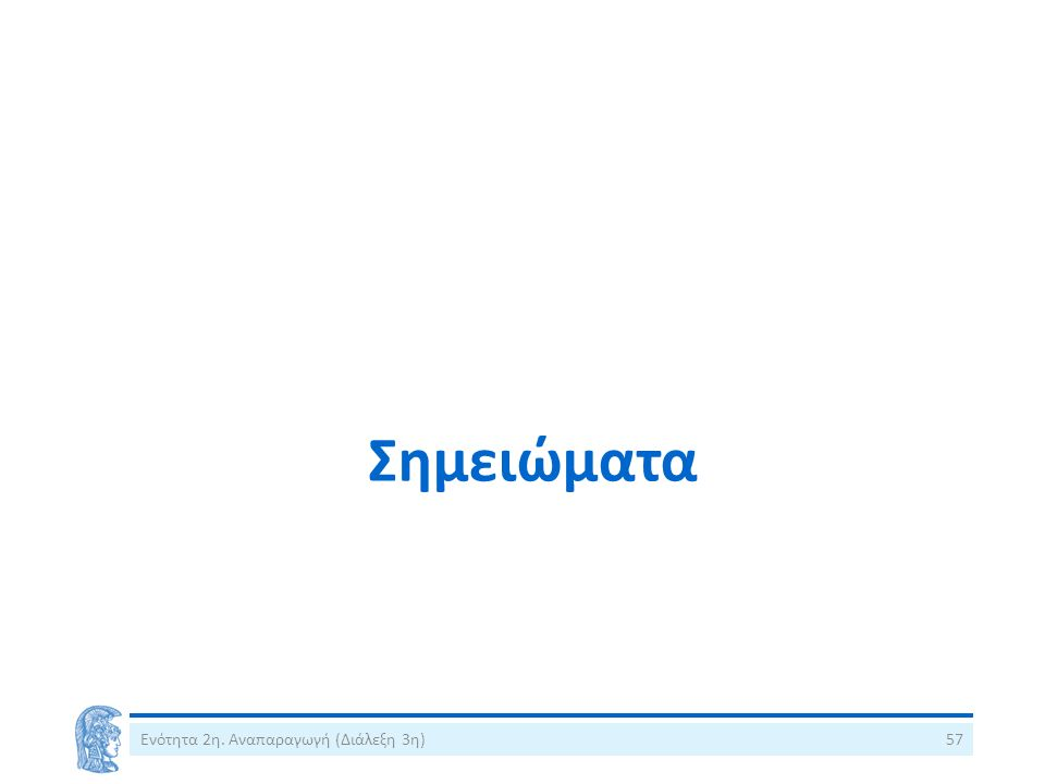 Σημειώματα Ενότητα 2η. Αναπαραγωγή (Διάλεξη 3η)57