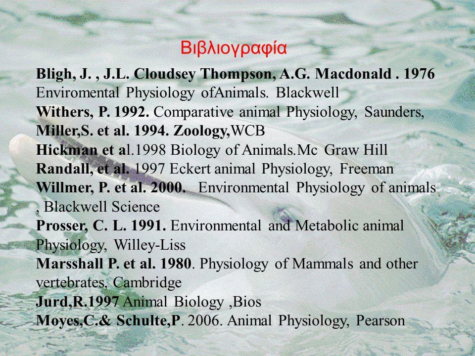 Βιβλιογραφία Bligh, J., J.L. Cloudsey Thompson, A.G.