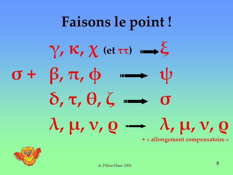 A.Fillon Mars 2006 9 Et les verbes contractes .