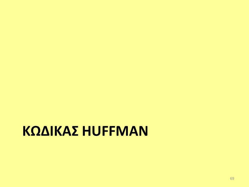 ΚΩΔΙΚΑΣ HUFFMAN 69