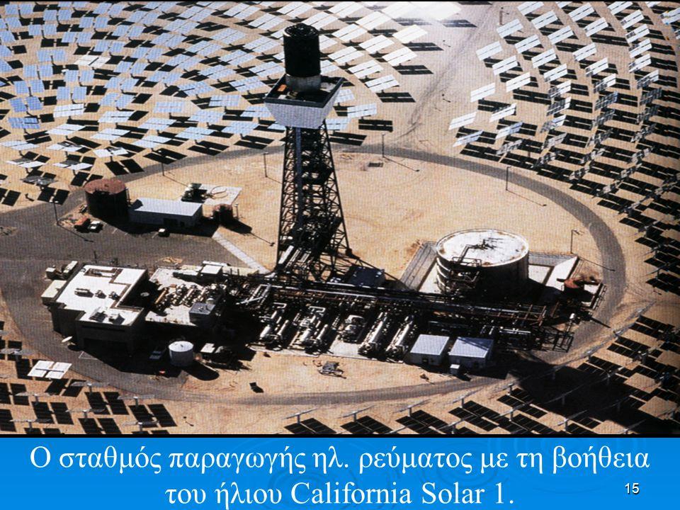 15 Ο σταθμός παραγωγής ηλ. ρεύματος με τη βοήθεια του ήλιου California Solar 1.