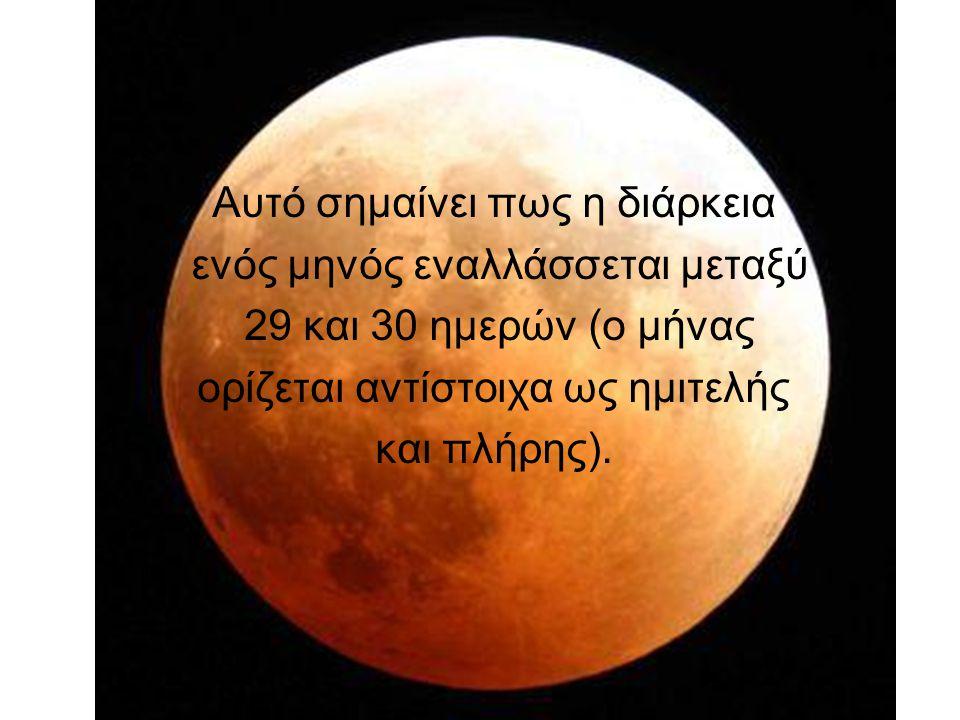 Αυτό σημαίνει πως η διάρκεια ενός μηνός εναλλάσσεται μεταξύ 29 και 30 ημερών (ο μήνας ορίζεται αντίστοιχα ως ημιτελής και πλήρης).