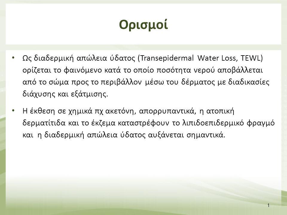 Ως διαδερμική απώλεια ύδατος (Transepidermal Water Loss, TEWL) ορίζεται το φαινόμενο κατά το οποίο ποσότητα νερού αποβάλλεται από το σώμα προς το περιβάλλον μέσω του δέρματος με διαδικασίες διάχυσης και εξάτμισης.