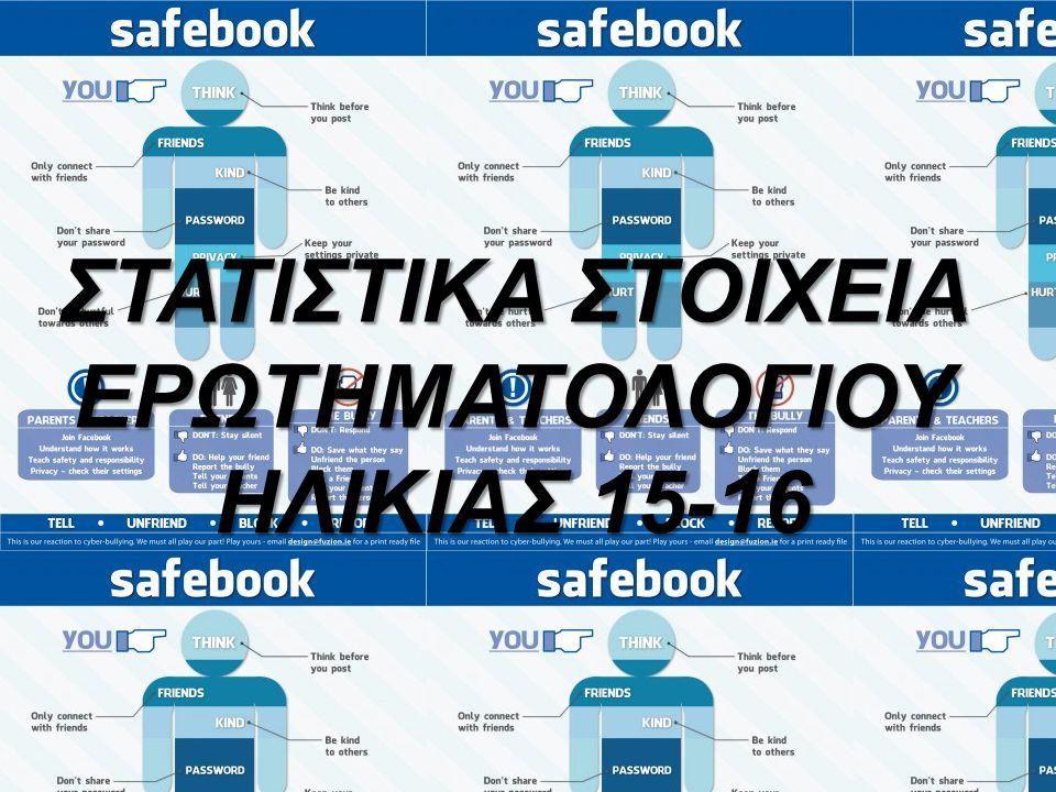 ΣΤΑΤΙΣΤΙΚΑ ΣΤΟΙΧΕΙΑ ΕΡΩΤΗΜΑΤΟΛΟΓΙΟΥ ΗΛΙΚΙΑΣ 15-16