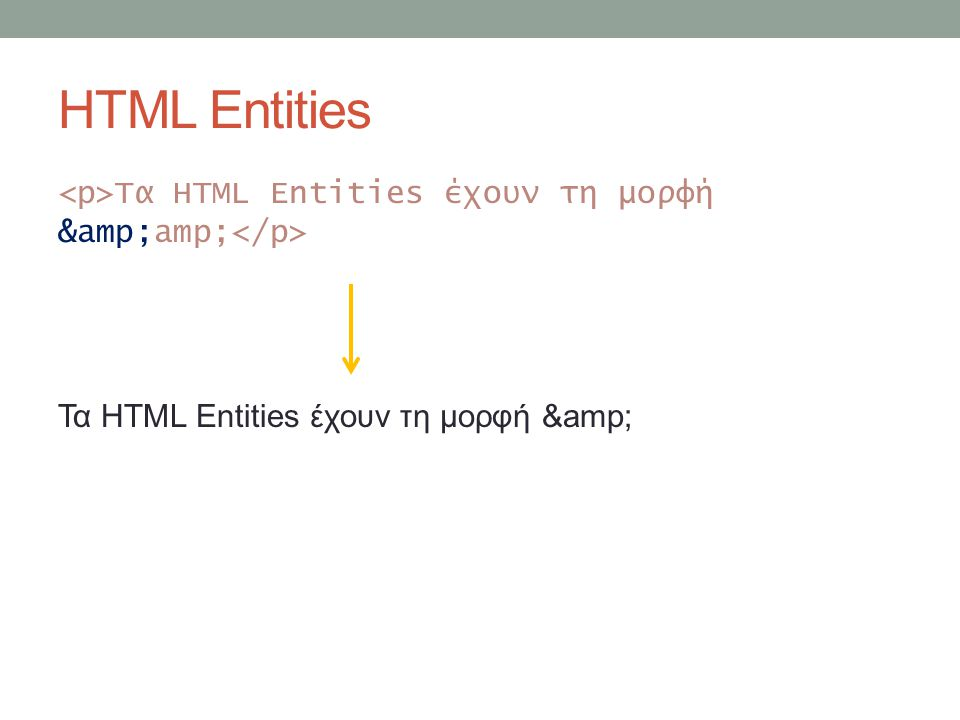 HTML Entities Poster
