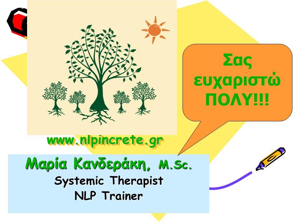 www.nlpincrete.grwww.nlpincrete.gr Μαρία Κανδεράκη, M.Sc.