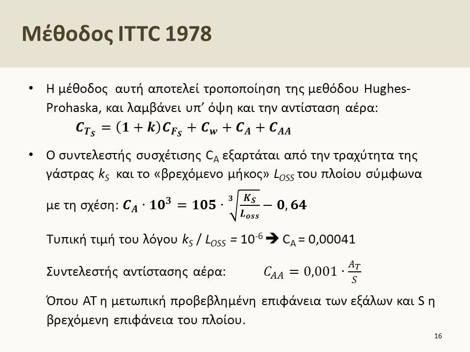 Μέθοδος ITTC 1978 16