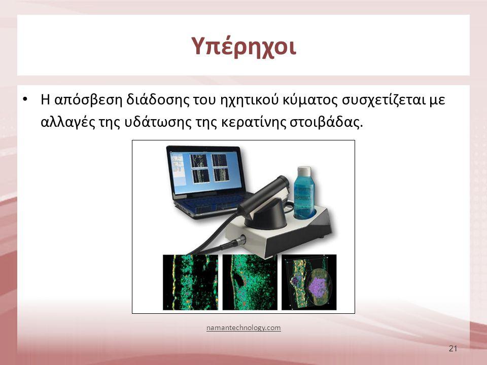 21 Η απόσβεση διάδοσης του ηχητικού κύματος συσχετίζεται με αλλαγές της υδάτωσης της κερατίνης στοιβάδας. Υπέρηχοι namantechnology.com