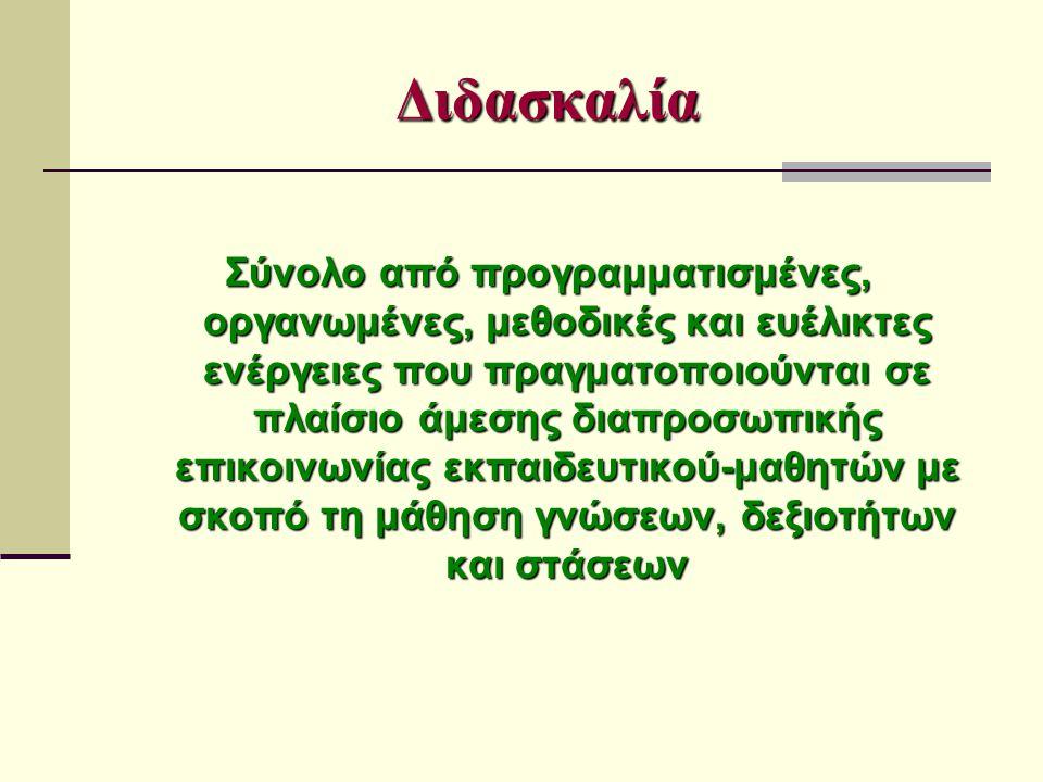 Στην πράξη 3 Συσχετίζονται οι προβλεπόμενες από τις οδηγίες διδασκαλίας δ.ω.
