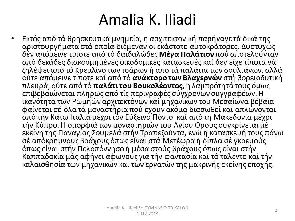 Amalia K. Iliadi 3o GYMNASIO TRIKALON 2012-2013 4 Amalia K.
