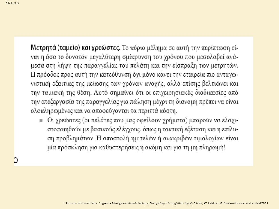 Slide 3.27 Harrison and van Hoek, Logistics Management and Strategy: Competing Through the Supply Chain, 4 th Edition, © Pearson Education Limited 2011 Κόστος Εξυπηρέτησης