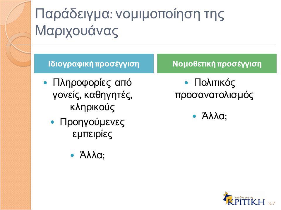 Κριτήρια νομοθετικής αιτιότητας 1.