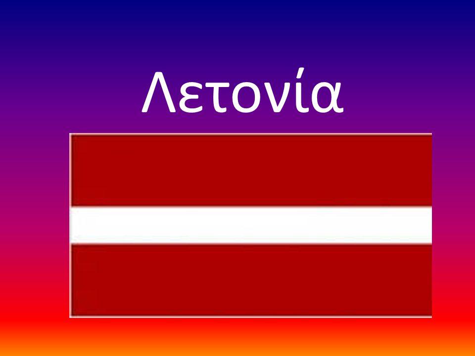 Η Λετονία στο χάρτη της Ευρώπης.