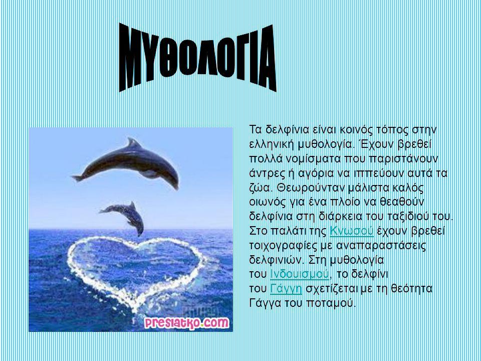 Τα δελφίνια είναι κοινός τόπος στην ελληνική μυθολογία. Έχουν βρεθεί πολλά νομίσματα που παριστάνουν άντρες ή αγόρια να ιππεύουν αυτά τα ζώα. Θεωρούντ