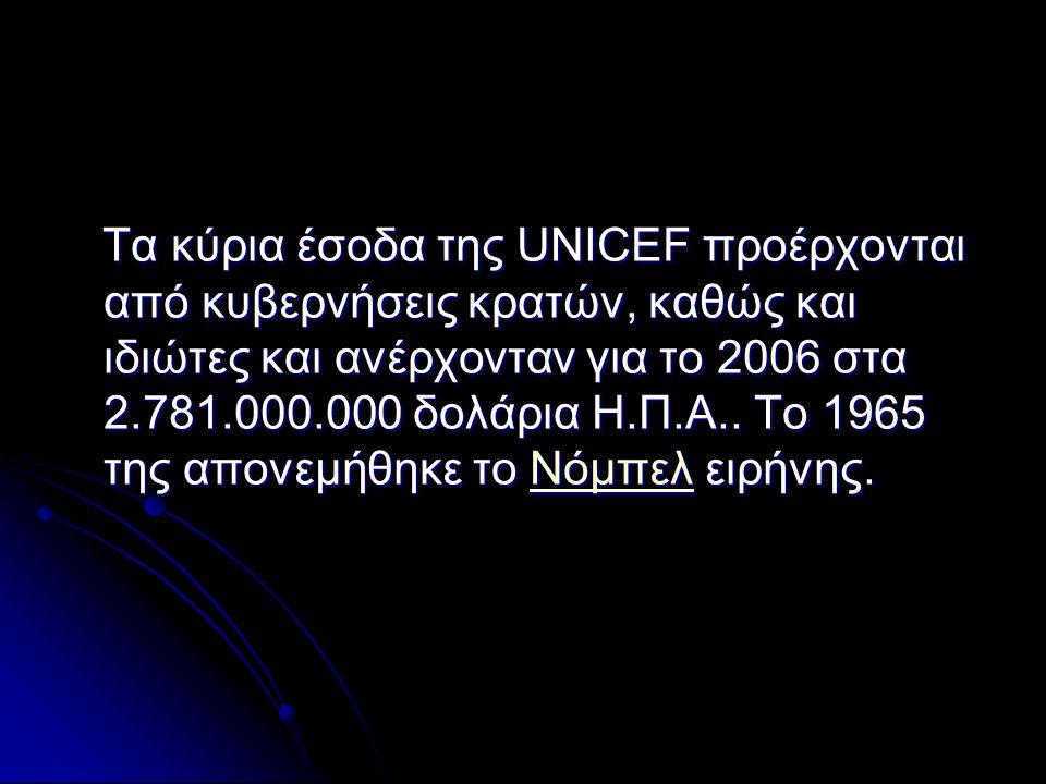 Δομή Η UNICEF διαθέτει γραφεία σε πάνω από 200 χώρες, τα οποία υπάγονται οργανικά σε 7 επί μέρους γεωγραφικούς τομείς.