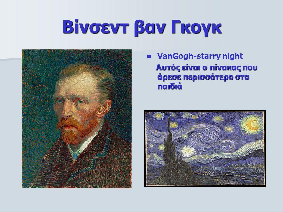 Βίνσεντ βαν Γκογκ VanGogh-starry night Αυτός είναι ο πίνακας που άρεσε περισσότερο στα παιδιά Αυτός είναι ο πίνακας που άρεσε περισσότερο στα παιδιά