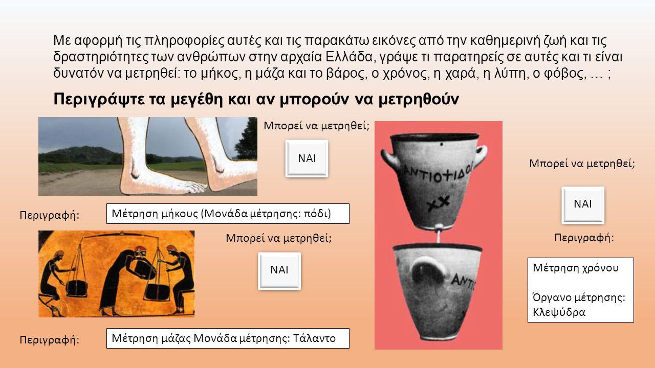 Με αφορμή τις πληροφορίες αυτές και τις παρακάτω εικόνες από την καθημερινή ζωή και τις δραστηριότητες των ανθρώπων στην αρχαία Ελλάδα, γράψε τι παρατ