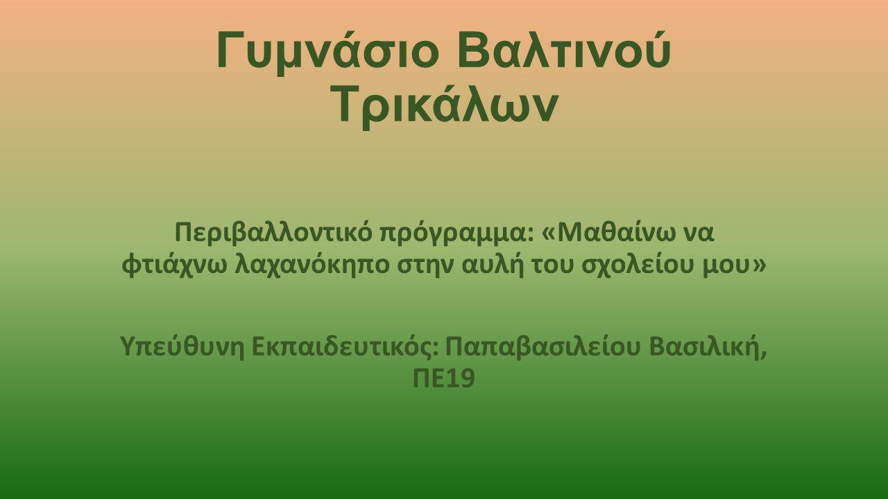 Συμμετέχοντες Μαθητές: Βασδέκης ΑποστόληςΚατής Θεοδόσης Βότσιος ΚωνσταντίνοςΚατσιάκος Δημήτρης Γελαδάρης ΒασίληςΚουφονίκος Θύμιος Γκαμπλιώνη ΔήμητραΛάμπρου Δήμητρα Ζησόπουλος ΘεοφάνηςΜέτσι Μπρισίλντα Θάνου ΘεοδώραΤσάνι Ειρήνη Ιακωβάκης Λάζαρος Καλύβα Νικολλέτα Καραγεώργος Βαγγέλης