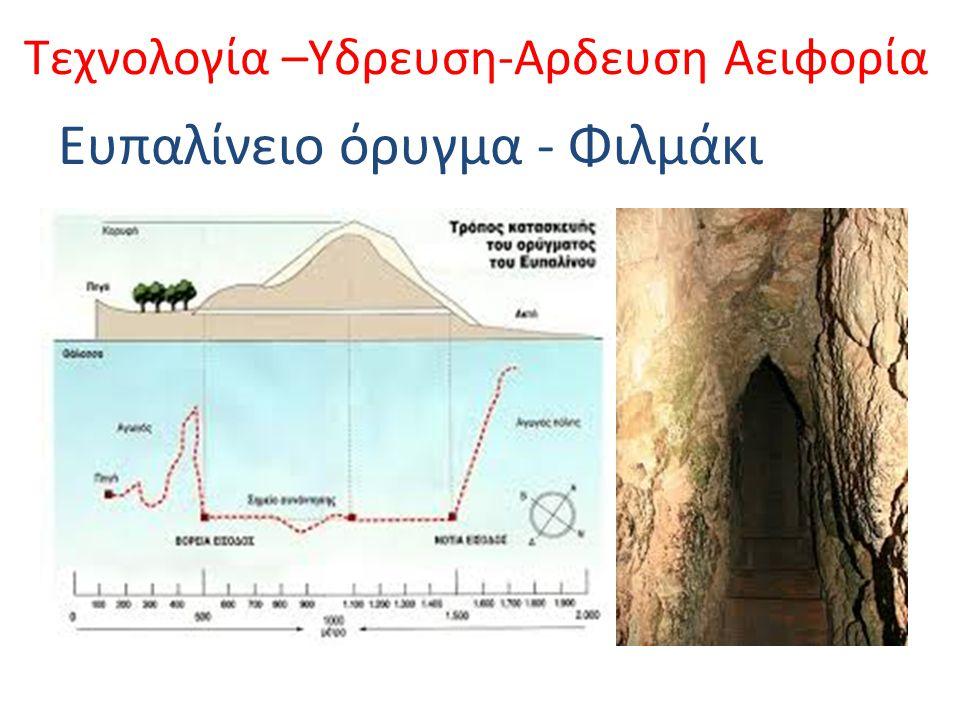 Ένα απ΄τα μεγαλύτερα τεχνικά έργα της αρχαιότητας, υδραγωγείο της αρχαίας πόλης Σάμου, το οποίο ο Ηρόδοτος ονομάζει αμφίστομον όρυγμα .