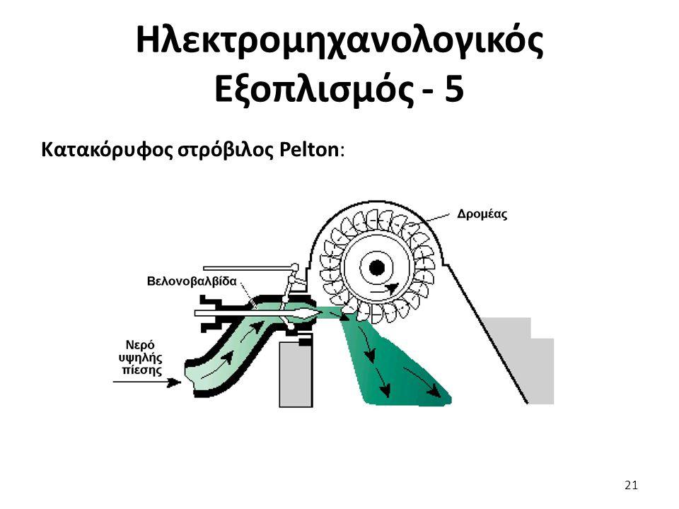 Κατακόρυφος στρόβιλος Pelton: 21 Ηλεκτρομηχανολογικός Εξοπλισμός - 5