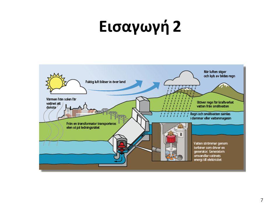 Εισαγωγή 3 Εξάτμιση: ¼ της ηλιακής ενέργειας Αποθήκευση: Φράγμα Μεγάλα Υ.Η.Σ. Ανανεώσιμη πηγή 8