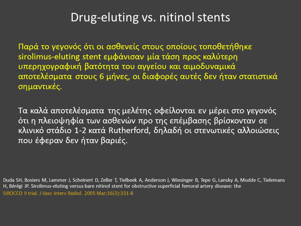 Drug-eluting vs.