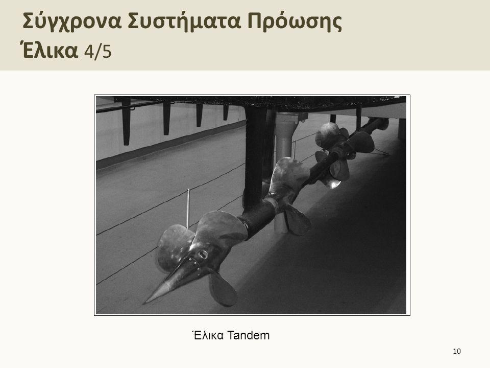 Σύγχρονα Συστήματα Πρόωσης Έλικα 4/5 10 Έλικα Tandem