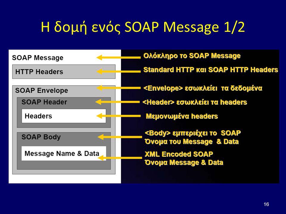 16 Η δομή ενός SOAP Message 1/2
