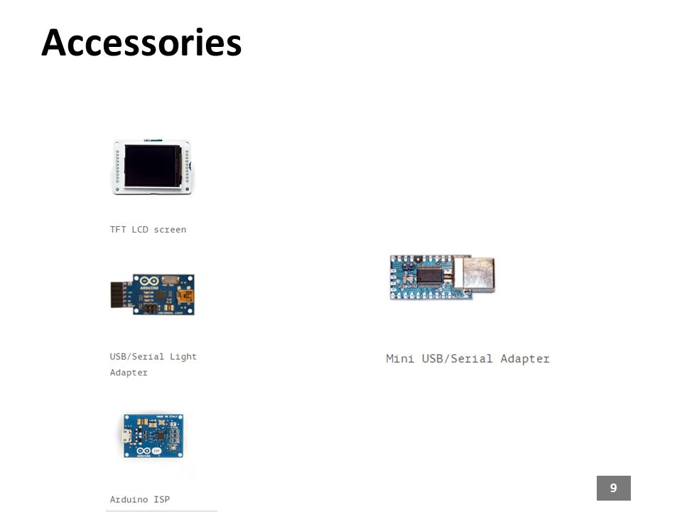9 Accessories