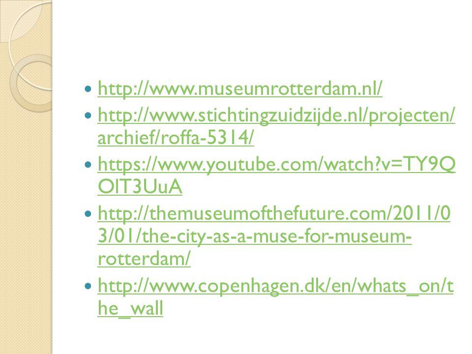 http://www.museumrotterdam.nl/ http://www.stichtingzuidzijde.nl/projecten/ archief/roffa-5314/ http://www.stichtingzuidzijde.nl/projecten/ archief/rof